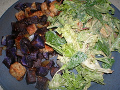 Blue Flannel Hash; Caesar Salad (HIAV) (dimsimkitty) Tags: veganomicon