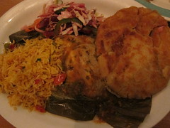 El Salvadoran Combo Plate @ Tune-Up Cafe (tanned and poached) Tags: travel friends food newmexico santafe 2015