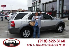 #HappyBirthday to Sondra Dotson from Justin Spencer at Midtown Kia! (tulsakia) Tags: new cars oklahoma car sedan truck wagon happy best used midtown vehicles
