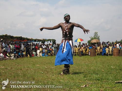 Hutu Dancer in Rwanda