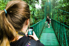 Mucking around (Dan van Orsouw) Tags: bridge people cloud costa forest canon eos is candid 4 bridges rica f vida 7d l hanging monteverde 24 40 24mm usm 105 pura f4 f40 24105 105mm 24105mm