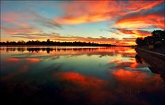 Sunset on the lake Ada Ciganlija, part III (Katarina 2353) Tags: sunset lake clouds serbia x beograd srbija adaciganlija serbiainspired