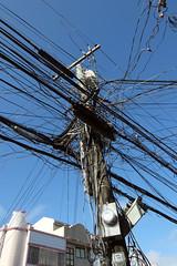 Power pole madness! (Indigo Skies Photography) Tags: philippines powerlines powerpole aklan kalibo fujifilmxf1