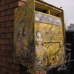 Au fil des rues... Street Art  Vitry-sur-Seine (94) (Yvette Gauthier) Tags: streetart ledefrance 94 valdemarne boiteauxlettres vitrysurseine c215 fresquemurale christiangumy