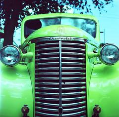 Chevrolet (LindseyFromNY) Tags: chevrolet film mediumformat crossprocessed kodak slidefilm hasselblad chevy crossprocessing ektachrome e100s hasselblad500elx kodakektachromee100s