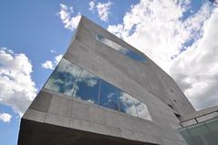 (darapo) Tags: blue sky reflection art minnesota metal museum architecture lens nikon angle contemporary wide minneapolis center screen tokina walker hdm herzog herzogdemeuron perforated demeuron d90 1116mm