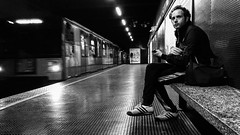 Metro Station (DanieleS.) Tags: street people white black station train wow underground subway photography photo cool shot metro shooting bianco nero daniele