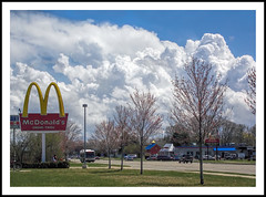 Golden Arches With a Cottage Cheese Sky (sjb4photos) Tags: clouds michigan mcdonalds ypsilanti goldenarches washtenawcounty cottagecheeseclouds