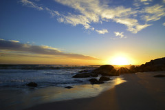 Remembering (moosebite) Tags: ocean africa sunset beach water town south cape africaday12evening