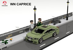 Holden WN Caprice (lego911) Tags: holden gm general motors australia aussie caprice wn commodore 2015 auto car moc model miniland lego lego911 ldd render cad povray 2010s sedan saloon v8 luxury