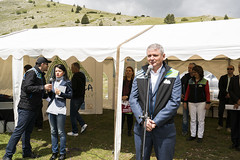 Mate Franjievi, Deputy Minister of Foreign Trade and Economic Relations BiH (ViaDinarica) Tags: people food usaid nature landscape locals hiking ceremony runners awards mountainbiking whitetrail undp bosniaandherzegovina wildnature blidinje blidinjelake viadinarica connectingnaturally terradinarica