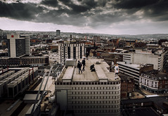 Sheffield I (Hector Pitt) Tags: city travel roof urban building rooftop up architecture landscape fly high cityscape view exploring free running hector adventure climbing pitt viewpoint epic parkour arial urbex drone roofculture