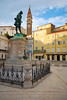 Tartini Square, Piran, Coastal-Karst, Slovenia (West Tribe) Tags: piran slovenia europe european adriatic tartini square statue violin tower church