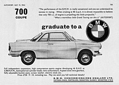 1964 BMW 700 Coupe (U.K. Ad) (aldenjewell) Tags: uk ad bmw 700 coupe 1964
