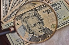 Magnifying My Money (It Sure Feels Like Fall, Love It!!!) Tags: money paper 1 10 dough cash pesos loot etc andrewjackson 20 g55 moolah dollars lucre pecuniary wk47 flickrbingo4 flickrbingo4g55