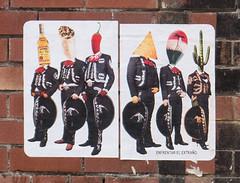 Enfrentar el Extrano - Face The Strange (cocabeenslinky) Tags: city uk cactus england urban streetart pasteup art strange face june liverpool lumix graffiti photo artist photos head culture el tequila panasonic sombrero graff chilli mexicans tortilla artiste merseyside the 2016 enfrentar extrano dmcg6 cocabeenslinky