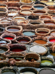 Tanning Pools (Don Csar) Tags: africa color colour pits leather skin handmade colores morocco fez pozos maroc medina marruecos tanning pigment fes openair artesania manufacture tannery pelt piel pilas marrok peleteria tabalateria