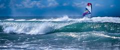 SHOT...........Spot de Carro..... (Malain17) Tags: sky mer colors sport clouds photography image pentax photographers capture vagues windsurf waterscape mditerrane