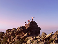 Triplicate (angeloska) Tags: ikaria aegean double cliffs multiplicity ridge greece hiker prettygirl ridgewalk hikingtrails   atheras rocktop  opsikarias ikarianview