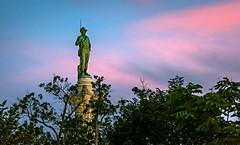Over Libby Hill (Sky Noir) Tags: park monument evening virginia twilight war dusk hill richmond civil va libby rva