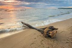 Stuck on the beach (Lauri Leesmaa) Tags: sunset sea summer seascape beach water estonia waves l lauri ef 1740mm f4 6d väänajõesuu leesmaa