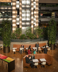 melbourne-3633-ps-w (pw-pix) Tags: wood trees light people plants sun stone moments chairs interior space details australia melbourne victoria tables cbd conversations reactions dappled shining shrubs levels collinsstreet interaction decisivemoment lifts collinsplace situations melamine parisend digbys rokkebony collinstowers soundslikenonsense