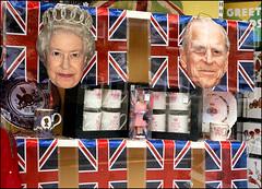 Happy 90th and 95th Birthdays! (Canis Major) Tags: portishead flags queen celebration monarch birthdays oxfam dukeofedinburgh princephilip queenelizabethii