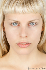 Serena (Alessandro Guidi 1985) Tags: red alessandroguidifotografo photo photography portrait beauty beautiful face makeup nomakeup blueyes blue eyes sguardo lips labbra mouth model modeling closeup girl woman young legend nordic exotic nord viking blonde