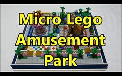 Micro-scale Lego Amusement Park (durazno_33) Tags: lego amusementpark micro ferriswheel carousel merrygoround moc