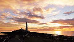 St. Mary's Lighthouse - Whitley Bay (Gilli8888) Tags: whitleybay sunrise lighthouse stmaryslighthouse tyneandwear dawn clouds sky light batesisland coast eastcoast northsea coastline seascape silhouette