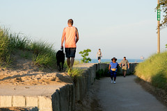 Back and Forth (Andy Marfia) Tags: dog chicago path candid lakemichigan uptown walkers lakefront 1685mm nikond7100