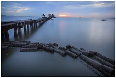 calm at the pier (Dax Ward Photography) Tags: pier ocean travel thailand longexposure buddhist thai water