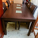 Wood and glass kitchen table