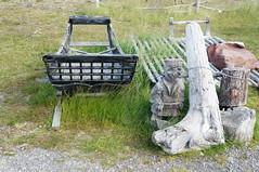 Sami Camp (tim ellis) Tags: holiday spitzbergen svalbard arctic serenissima msserenissima nordkapp sami sledge carving statue skarsvag norway