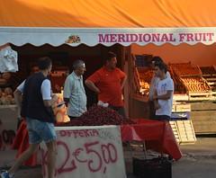 """meridional fruit"" (Giulia Maria Pontesilli) Tags: vieste puglia italy italia sea beach summer sommer estate vacanze holidays italianit beauty landscape beautiful folkloristic typical funny fun fruit cherries sud south people selling"
