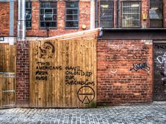 American Pizza Slice (mobilevirgin) Tags: liverpool woodstreet americanpizzaslice streetart graffiti subconscious hdr fuji x30