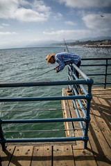 Fishing at Santa Monica Pier (Channed) Tags: america amerika california californi noordamerika santamonica us usa vs verenigdestaten fisherman fishing pier santamonicapier chantalnederstigt unitedstates