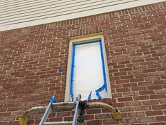 Casement Window Restoration Geist, IN (devinaodom) Tags: finishcarpentry carpentry fabrication replication restoration rottenwood epoxy adhesive paint oilbased primer caulk masonry tuckpointing mortar sanding windowrepair windowrestoration casementwindow glass remodeling residentialconstruction brick redbrick ladder brickmoulding trim trimmoulding damage plywood woodworking weatherstripping painting slope windowsill window woodwindow windowhardware