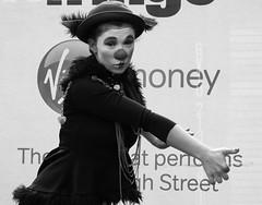 Fringe on the Mile 2016 0198 (byronv2) Tags: edinburgh edimbourg edinburghfestival fringe fringe2016 edinburghfestivalfringe edinburghfringe edinburghfringe2016 edinburghfestivalfringe2016 royalmile oldtown performer festival stage facepaint makeup music musician dance dancer acrobat clown blackandwhite blackwhite bw monochrome woman girl flexible dancing costume pretty sexy