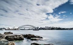Sydney icons from afar (yotchis) Tags: sea water daytimelongexposure longexposure sydneyoperahouse operahouse sydney australia