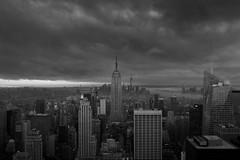 An Empire Point of View (Euan Ross (circa35mm)) Tags: city newyorkcity usa newyork weather clouds cityscape manhattan brooklynbridge empirestatebuilding wallstreet