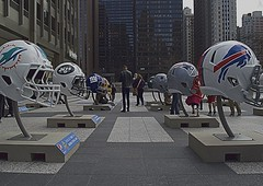 Draft Day (ChicagoAintCool) Tags: people usa chicago newyork art sports cowboys buildings outside dallas football illinois buffalo artwork midwest downtown day skyscrapers bills miami jets nfl newengland chitown michiganave dolphins giants patriots