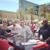 ME ON ESPNS SPORTS NATION WITH HOSTS MICHELLE BEADLE ,MAX KELLERMAN, AND NFL LEGEND MARCELLUS WILEY..@ MGM GRAND POOL