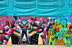 Stadhuisplein Rotterdam (FaceMePLS) Tags: streetart art painting rotterdam mural grafitti kunst nederland thenetherlands tekening straatkunst straatfotografie facemepls nikond300