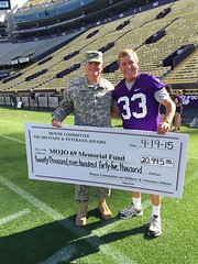 Dems beat Reps in the 2nd annual Truce for the Troops at Tiger Stadium this afternoon. We did raise over $20,000 to help the families of the National Guard men who lost their lives the the tragic helicopter accident.