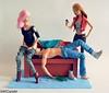 Mischief (violetcazador) Tags: photography miniature funny humorous dolls ken barbie hangover mischief subversive diorama selfie
