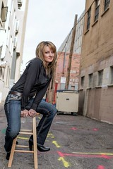 Gorgeous Jennifer (msgbonniec) Tags: woman beautiful 50mm alley nikon downtown gorgeous albuquerque gary fong lightsphere d610 sb700
