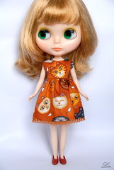 Blythe dress (Lin109) Tags: fashion outfit dress handmade sewing hobby clothes cotton blythe etsy