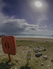 Sea Acres Beach (Muzammil (Moz)) Tags: beach sunshine cornwall lizard fisheyelens newquey afraaz muzammilhussain mozhaps canon815mm canon5dmark3 mozhapsyahoocouk parkdeancaravanpark