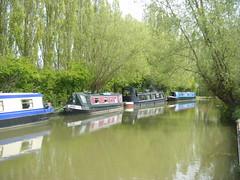 Canal boats on The Grand Union Canal by Campbell Park, Milton Keynes. (johnzebedee) Tags: boats canal miltonkeynes buckinghamshire narrowboats johnzebedee